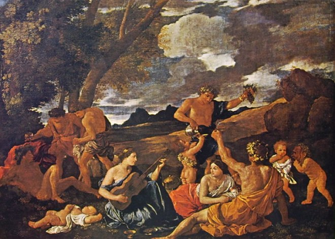 Nicolas Poussin: Baccanale con suonatrice di liuto
