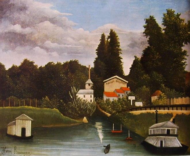 Rousseau il Doganiere: Paesaggio col mulino di Alfort