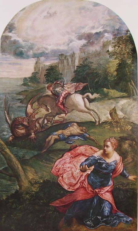 Il Tintoretto: San Giorgio uccide il drago