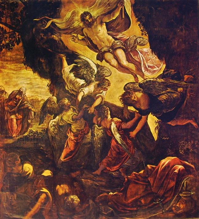 Il Tintoretto: Dipinti per la sala grande di San Rocco - La resurrezione