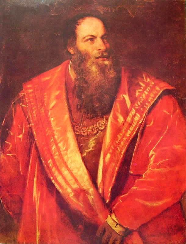 Tiziano: Ritratto di Pietro Aretino