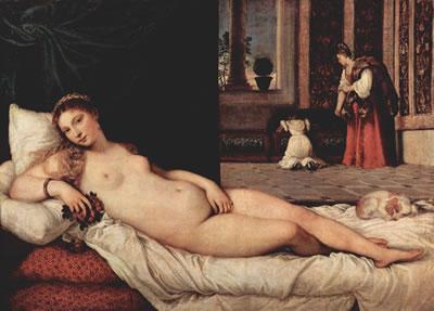La venere di Urbino, cm. 165, Uffizi, Firenze.