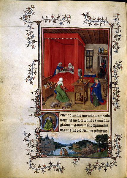 """Jan van Eyck (1390 circa – 1441):Fogli del libro miniato, le """"Ore di Torino"""""""