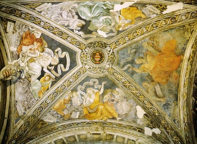 Filippino Lippi -Cappella Carafa: Le Sibille sulla volta