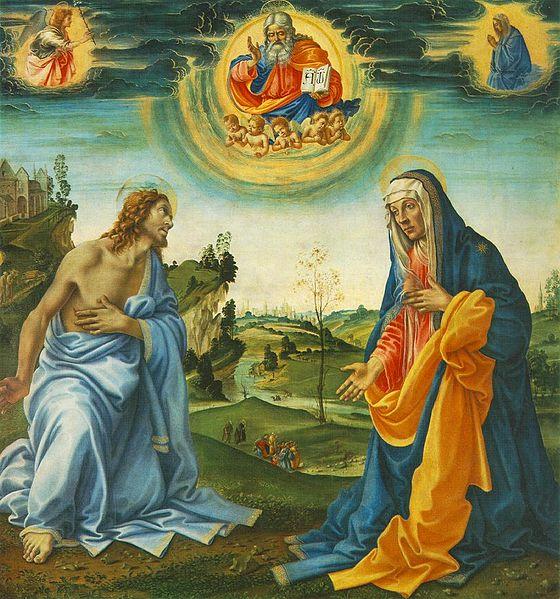 Filippino Lippi: Apparizione di Cristo alla Madonna