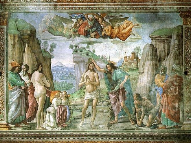 Domenico Ghirlandaio: Battesimo di Cristo