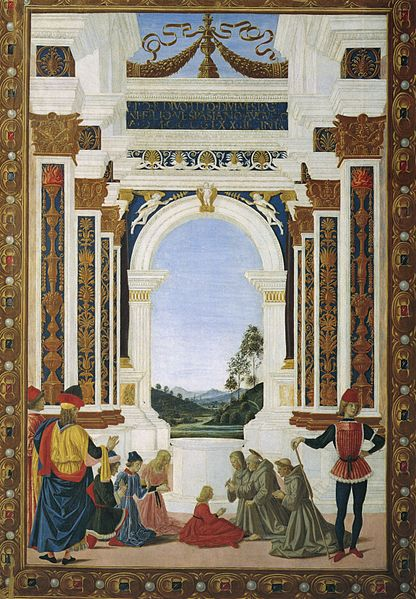San Bernardino risana una fanciulla (1473)