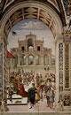 Enea Silvio incoronato poeta dal'imperatore Federico III