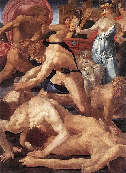 Rosso Fiorentino: Mosè difende le figlie di Jetro