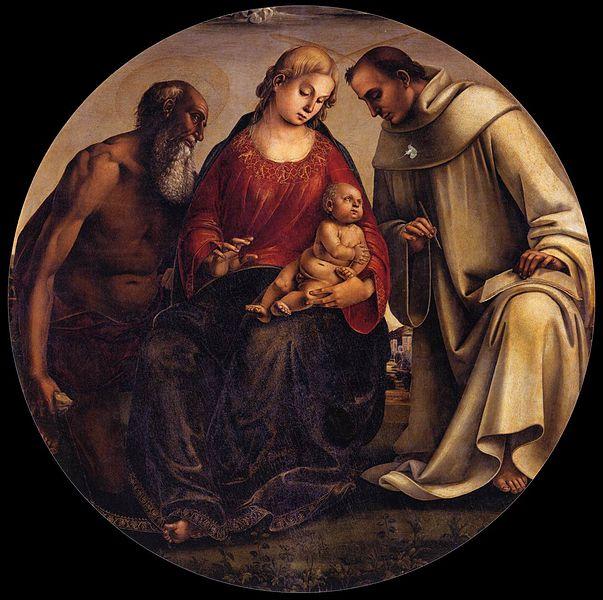 Luca Signorelli: Madonna col Bambino tra i santi Girolamo e Bernardo