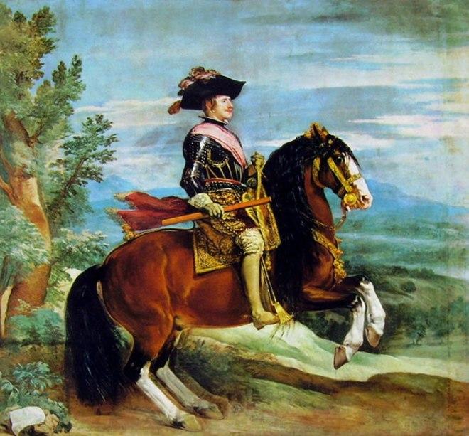 Filippo IV a cavallo, Madrid Prado (314 cm.)