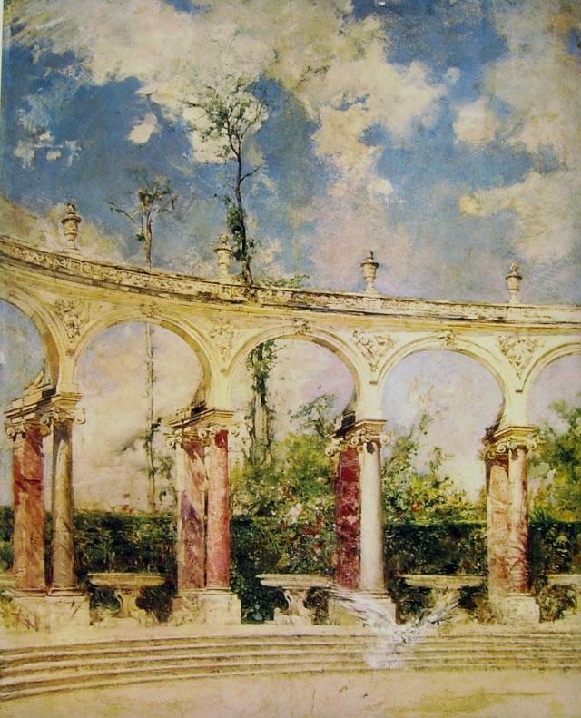 Giovanni Boldini: La colonnade a Versailles