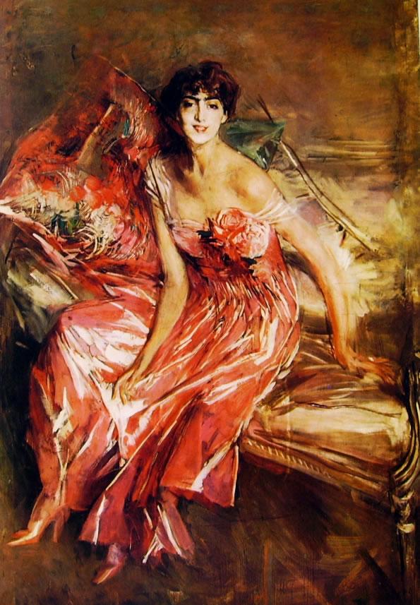 Giovanni Boldini: La donna in rosa