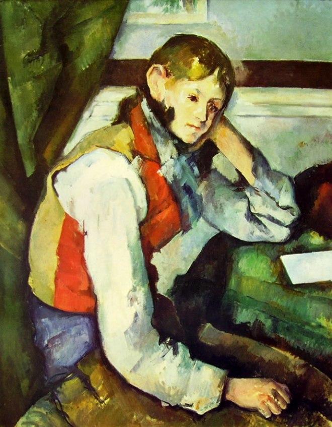 Paul Cezanne: Ragazzo dal panciotto rosso