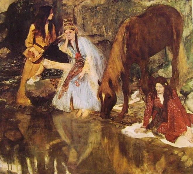 """Edgar Degas: Eugenie Fiocre nel balletto """"La Source"""""""