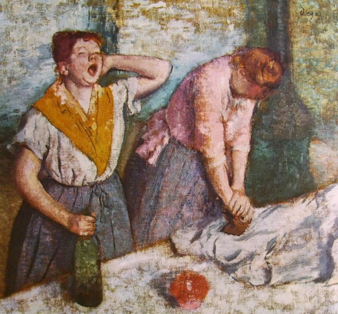 Le stiratrici, tela 76 x 81 Parigi, Museo d'Orsay