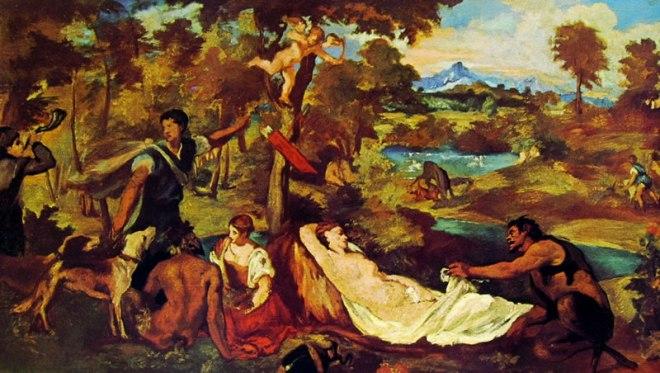 Edouard Manet: Giove ed Antiope