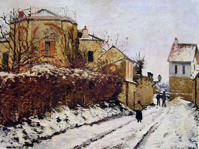 Camille Pissarro: L'inverno a Pontoise