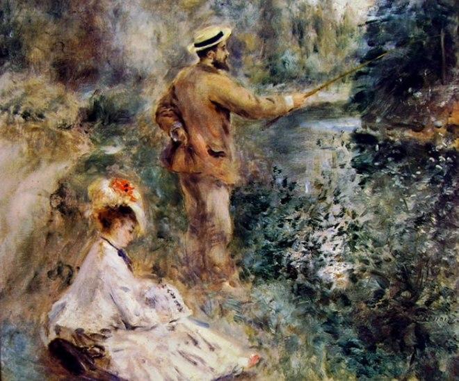 Pesca alla lenza, 54 x 65, collezione privata Londra