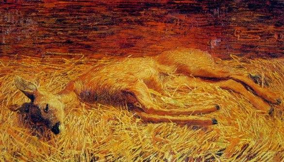 Segantini - Capriolo morto