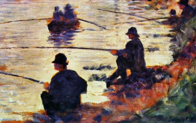 Georges-Pierre Seurat: Pescatori in riva alla Senna
