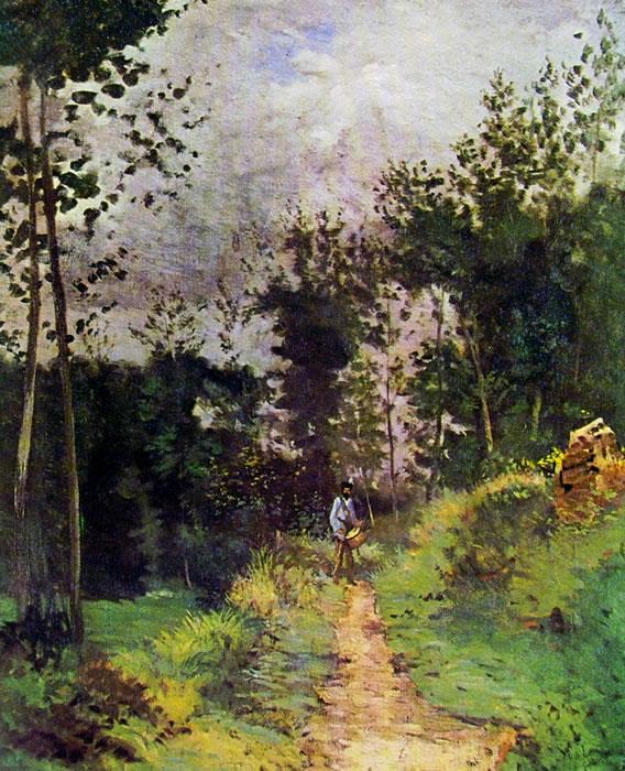 Alfred Sisley: Guardia campestre nella foresta di Fontainebleau
