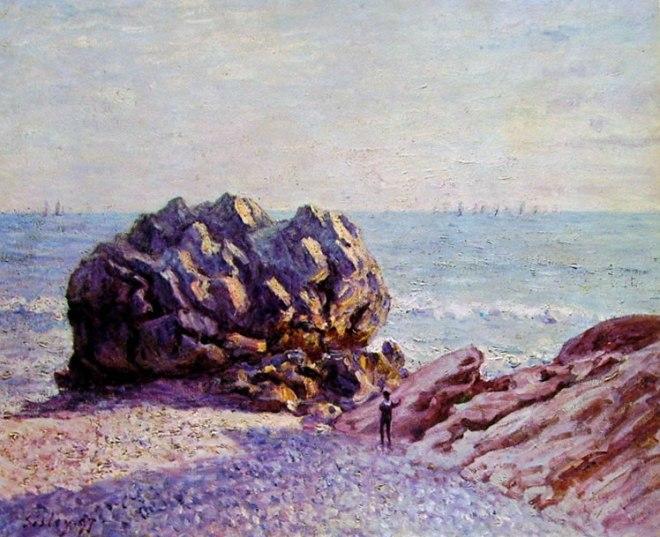 Alfred Sisley: Storr Rock, Lady's cove - Di sera