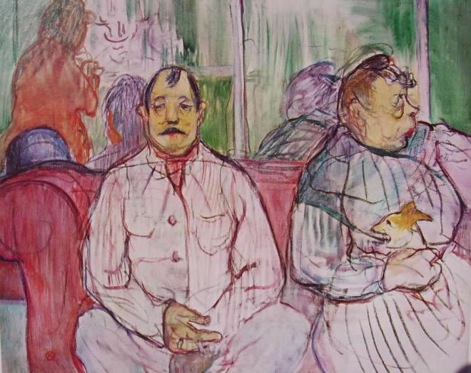 Toulouse-Lautrec: Lui, lei e il cane