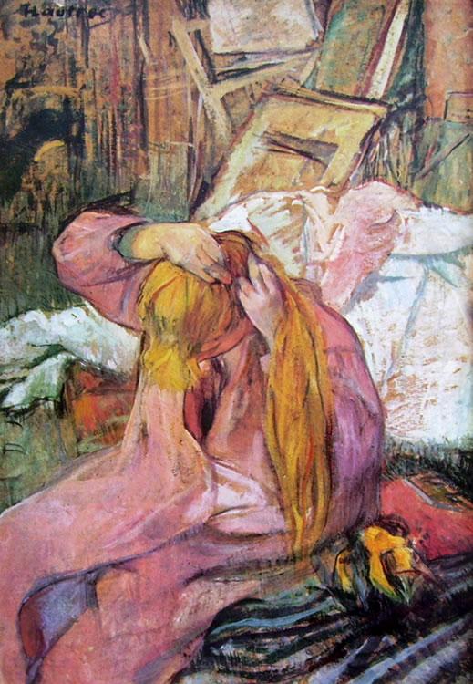 Toulouse-Lautrec: Donna che si pettina