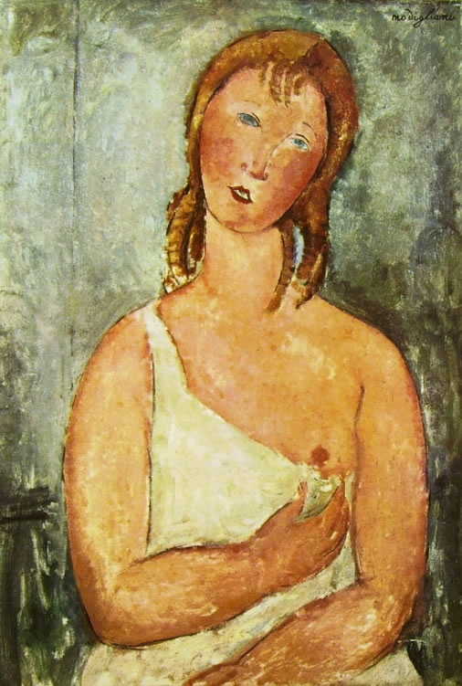 Amedeo Modigliani: Giovane rossa in camicia
