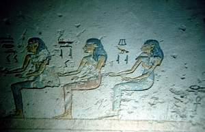 Un disegno nella tomba di Ramses VII (KV1)