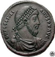 Giuliano in una moneta del 360