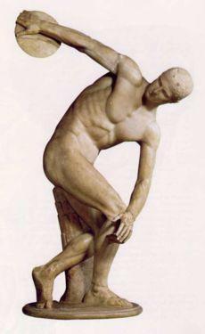 Discobolo di Mirone (copia Museo Nazionale romano: l'originale è andato perduto