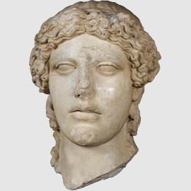Testa dell'Apollo tipo Kassel, I sec. d.C