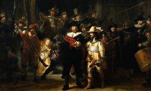 Rembrandt: La ronda di notte o La milizia del capitanto Frans Banning Cocq