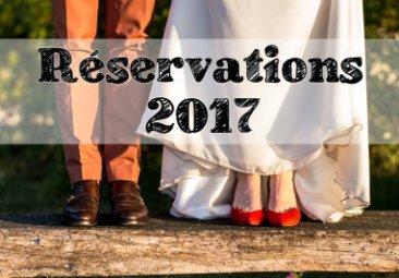 Réservation mariage 2017