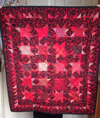 Small quilt made for Anne Bermingham and Catherine Sanborn in 2015.