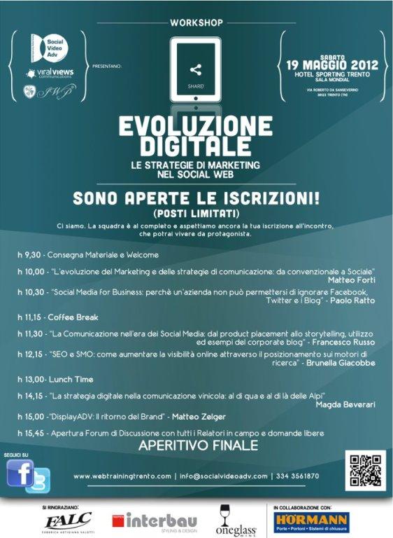Evoluzione Digitale, workshop Trento 19 Maggio 2012