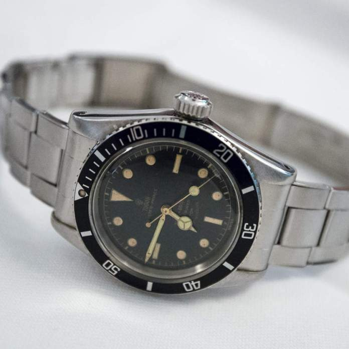 Tudor Oyster Prince Submariner Reference 7924 Big Crown From 1958
