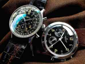 (left) Navitimer Valjoux72 ref.806 from 1955 (right) Digital ref.765 from 1960