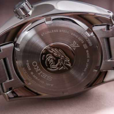 Caseback of the Seiko SDBC0027