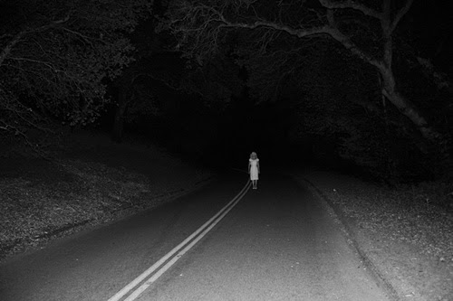 Ghost on road