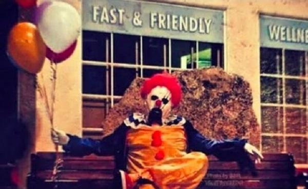 clown in chair