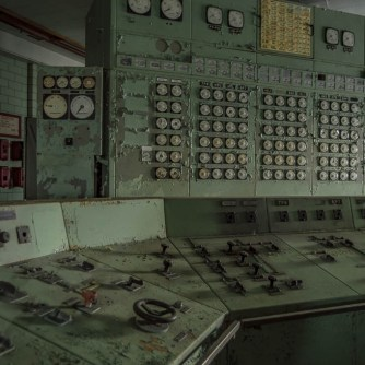 Abandoned Power Plant Control Room