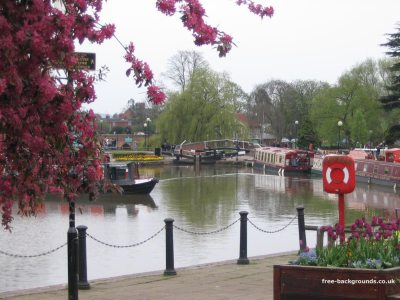 Canal boats in Stratford-Upon-Avon - Free Backgrounds