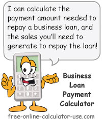 Business Loan Payment Calculator with Eye-Opening Feature