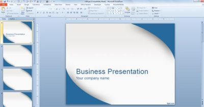 Applying a Template to PowerPoint presentation