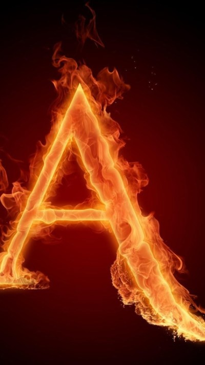 Burning Letter A Wallpaper - Free iPhone Wallpapers
