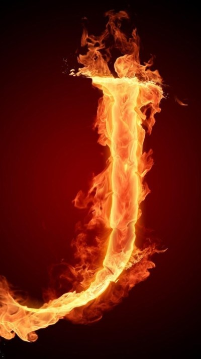 Burning Letter J Wallpaper - Free iPhone Wallpapers