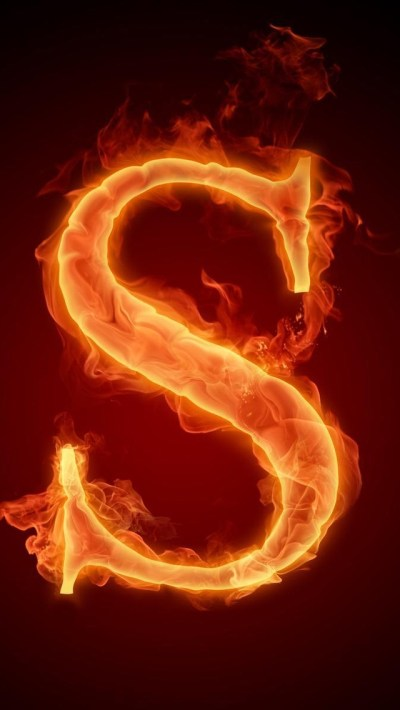 Burning Letter S iPhone 6 / 6 Plus and iPhone 5/4 Wallpapers